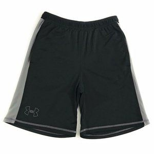 Under Armour Mens Black Gray Pocketed Shorts